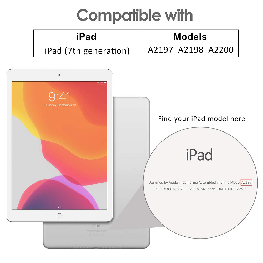 Smart Case Ipad 7 Tela 10.2 Ano 2019 A2197 A2198 A2199 Preta