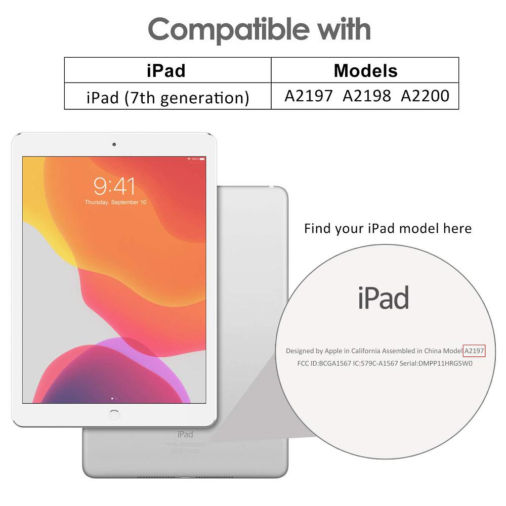 Smart Case Ipad 7 Tela 10.2 Ano 2019 A2197 A2198 A2199 Rosa Escuro