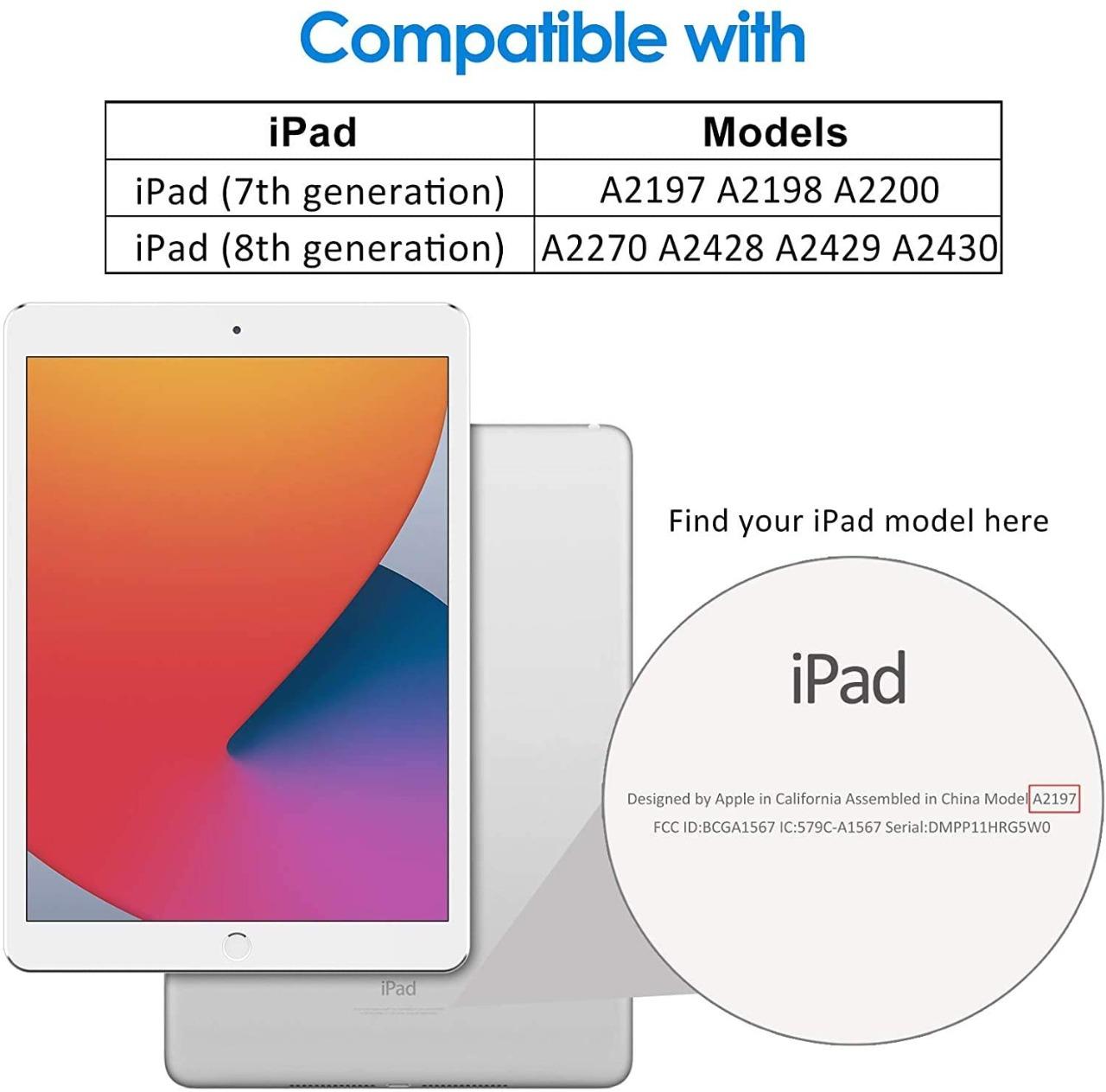 Smart Case Ipad 8 Tela 10.2 Model A2270 Magnética Slim Preta