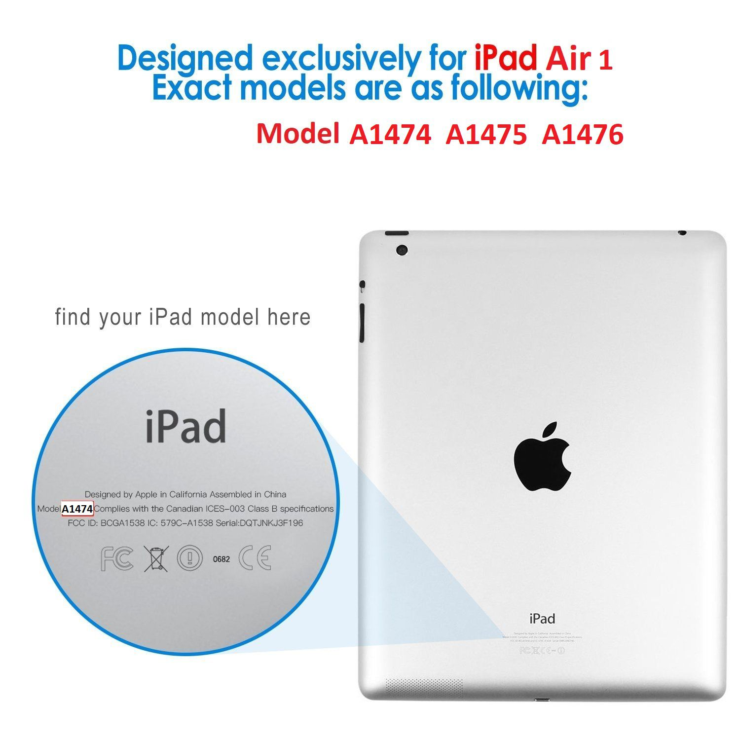Smart Case Ipad Air 1 Apple A1474 A1475 A1476 Premium Azul Marinho