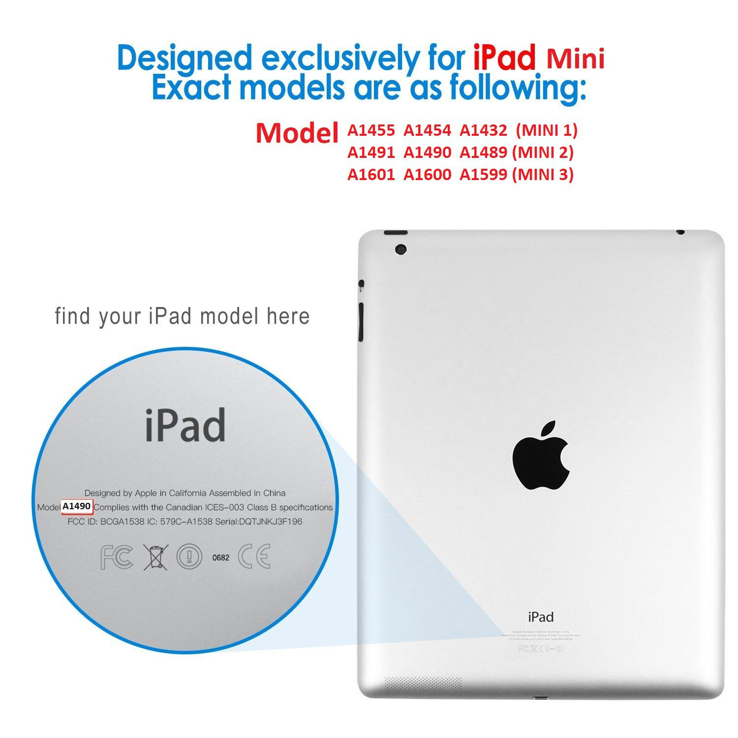 Smart Case Ipad Mini 1 2 3 Apple Sensor Sleep Poliuretano Azul Marinho