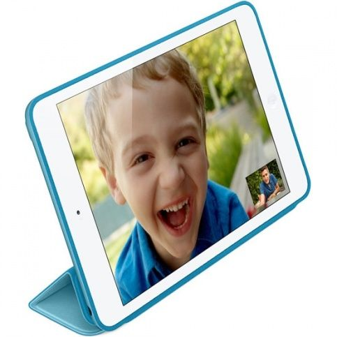 Smart Case Ipad Mini 4 Apple Sensor Sleep Poliuretano Azul Claro