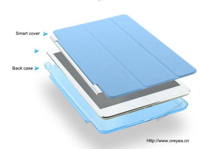 Smart Case Ipad Mini 4 Magnética Frontal + Traseira A1550 A1538 Azul