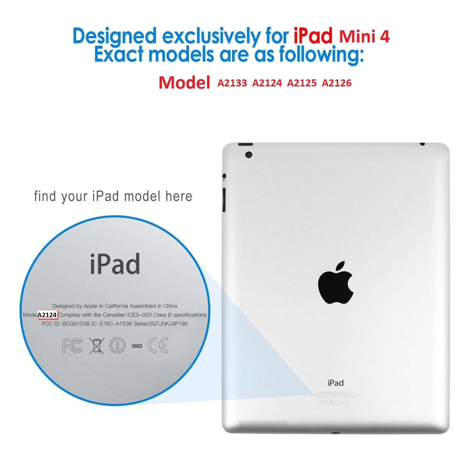 Smart Case Ipad Mini 5 Apple A2124 A2125 A2126 Premium Dourada