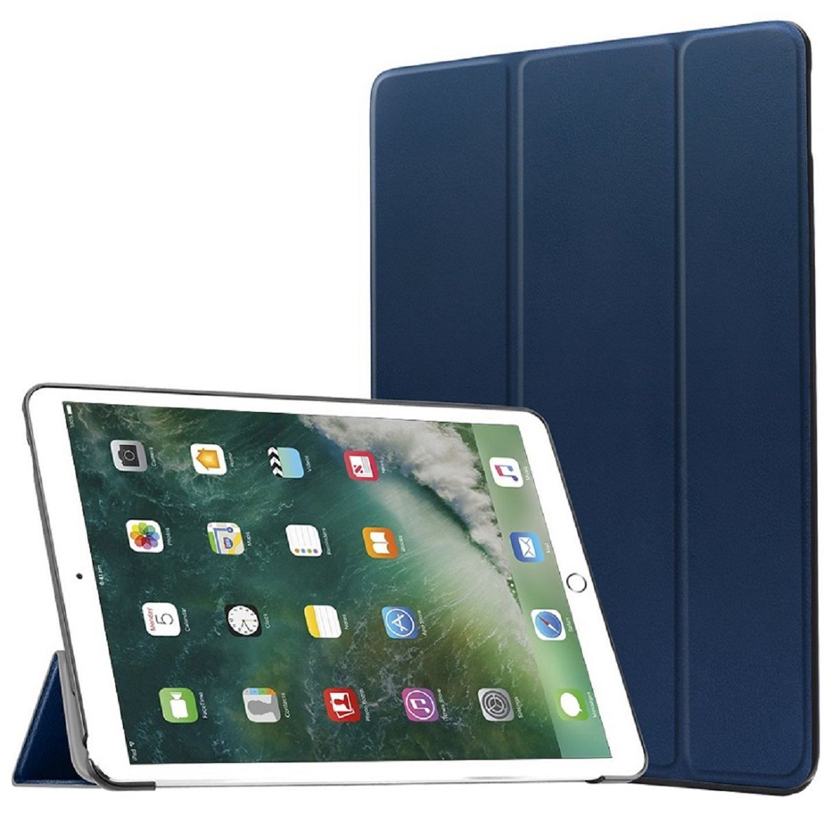 Smart Case Ipad Pró 12.9 Apple 2017 A1670 A1671 Sensor Sleep Azul Marinho