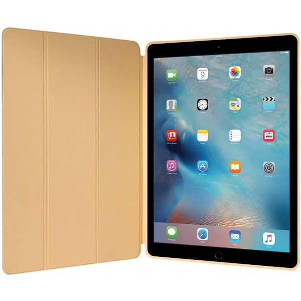 Smart Case Ipad Pró 12.9 Apple 2017 A1670 A1671 Sensor Sleep Dourada Gold
