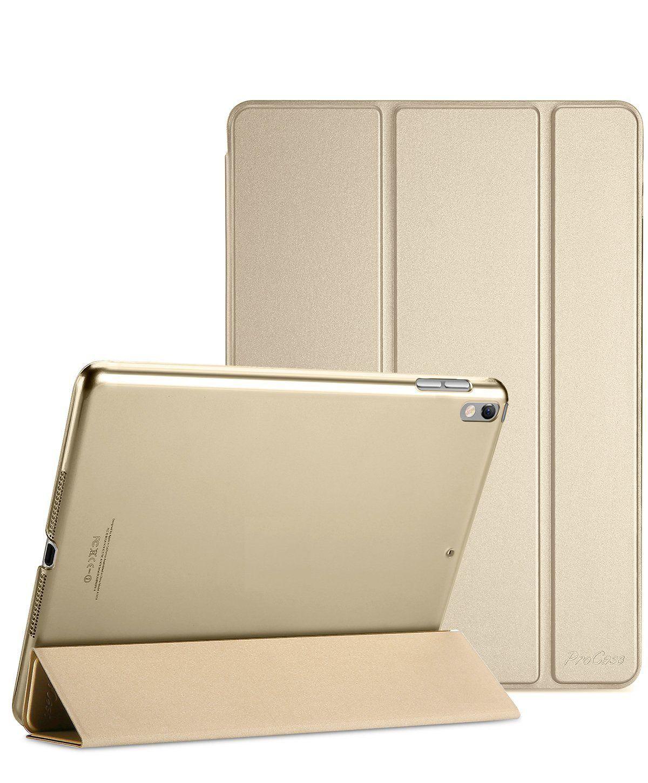 Smart Case Premium Ipad Pró 10.5 Apple A1701 A1709 Sensor Sleep Dourada