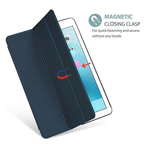 Smart Case Ipad Pró 12.9 Apple 2017 A1670 A1671 Sensor Sleep Azul Marinho