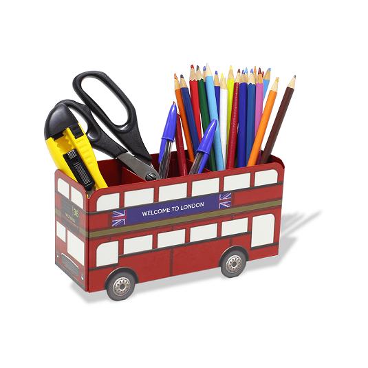 Suporte Porta Lápis - Acessórios - Escritório Ônibus Londres