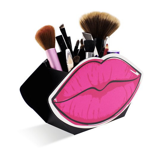 Suporte Porta Maquiagem - Lápis - Acessórios - Boca Rosa Decoração
