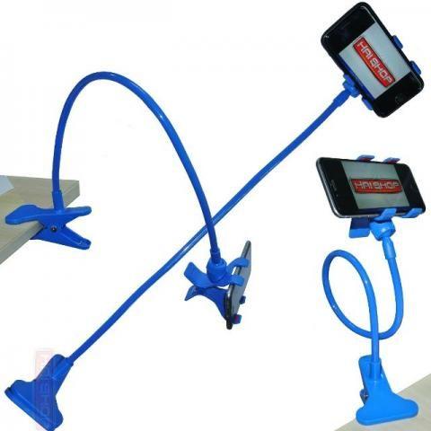 Suporte Universal Haste Flexível para Celular Azul