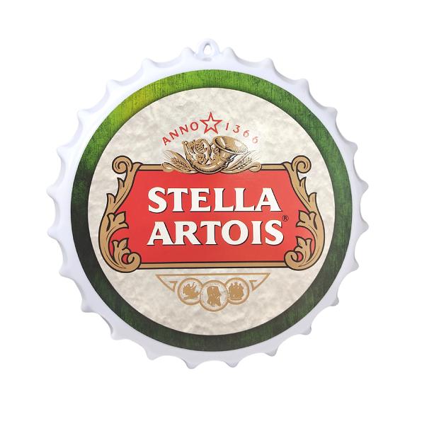 Placa Tampa de Cerveja Decorativa Quadro de Parede Lazer/Churrasco