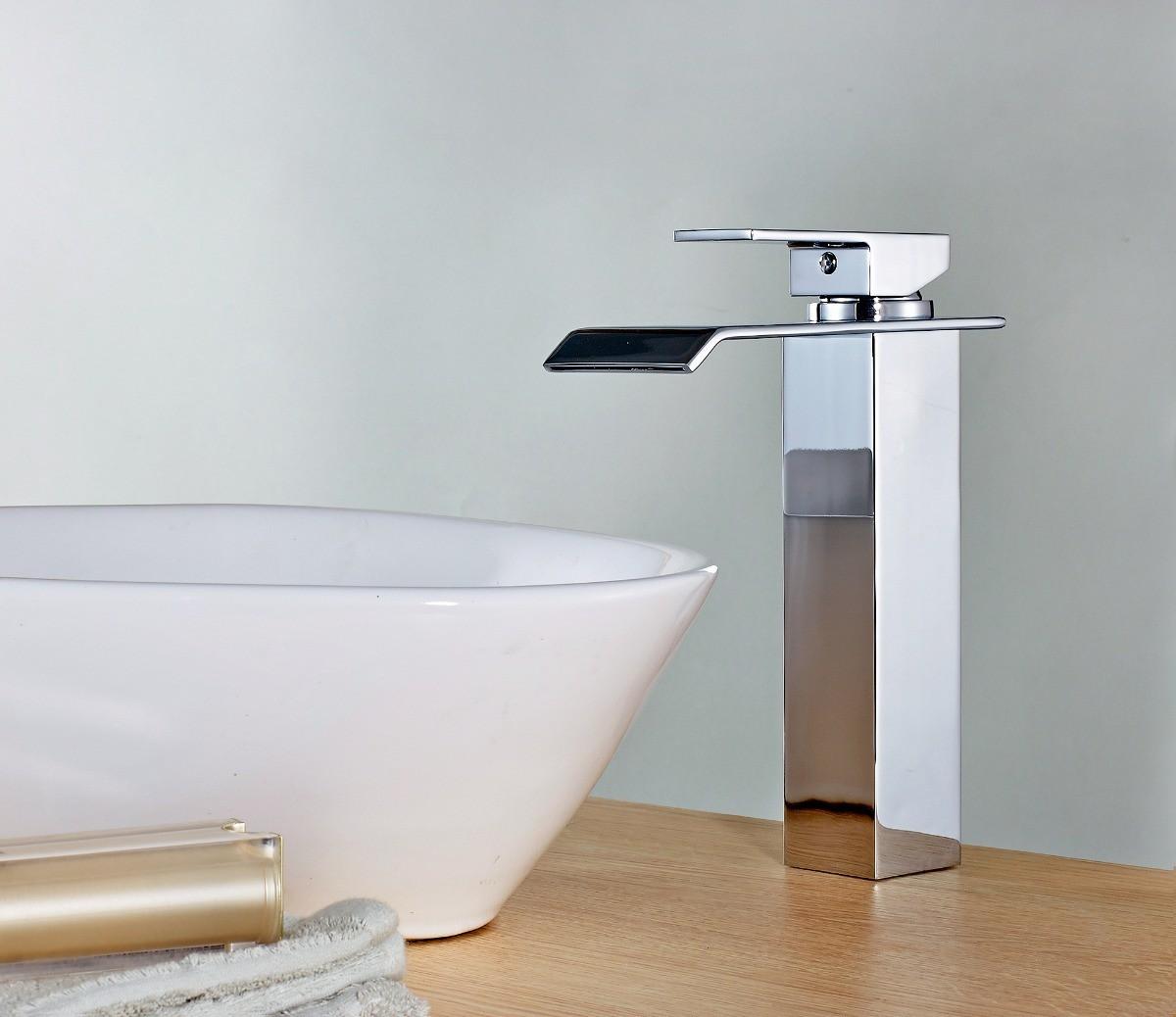 Torneira Cascata Alta Monocomando Misturador Banheiro/Lavabo London