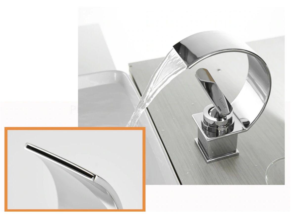 Torneira Para Banheiro de Inox Design Cascata