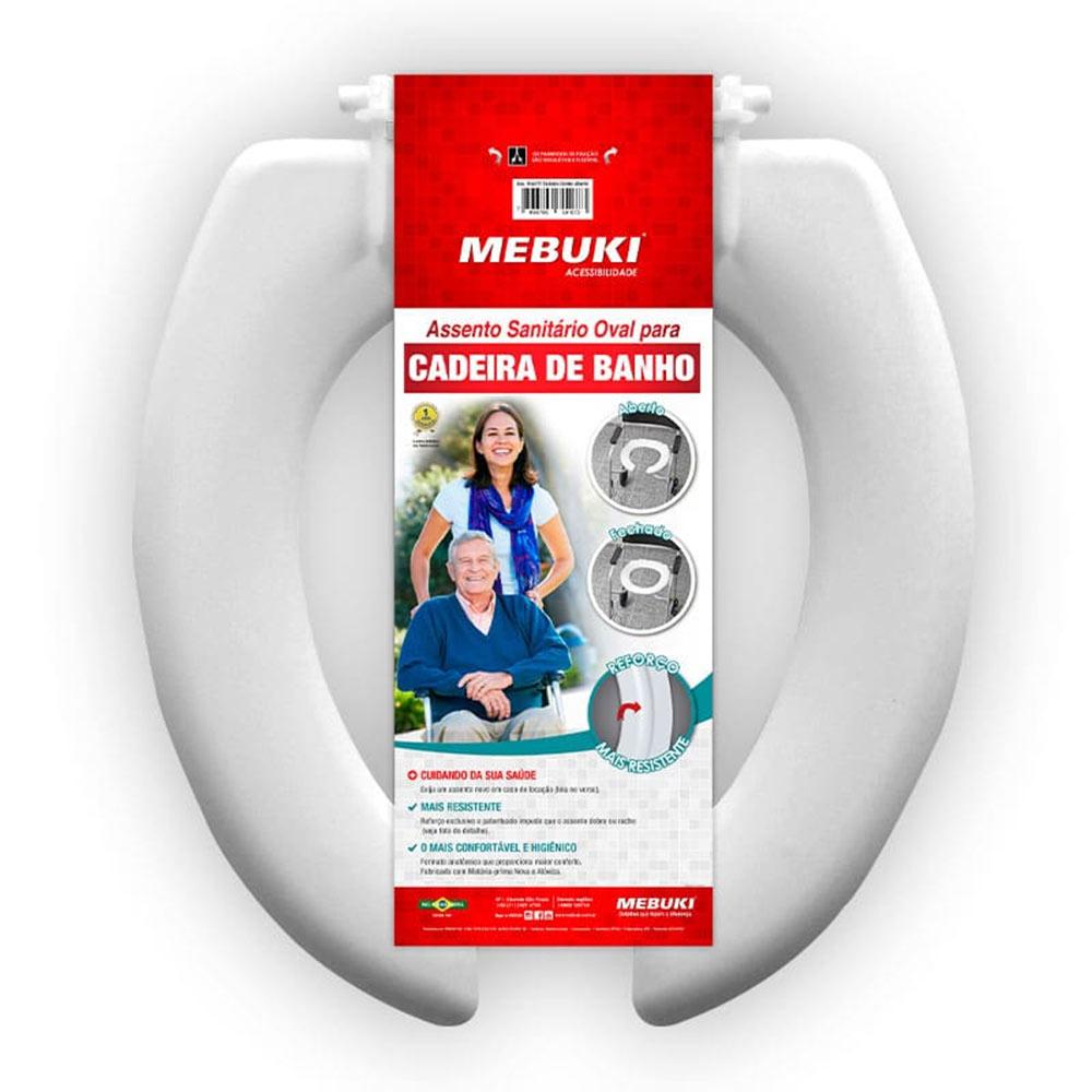Assento Sanitário Oval Aberto para Cadeira de Banho