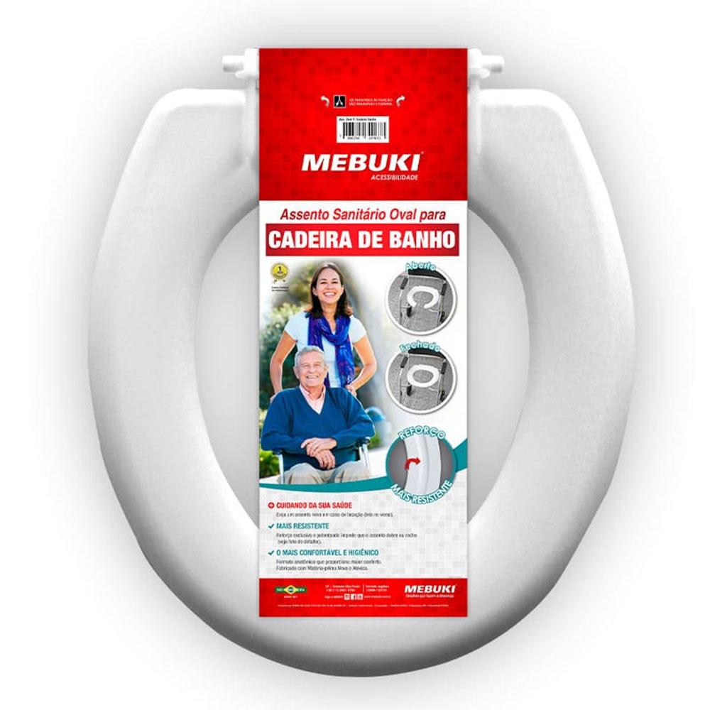 Assento Sanitário Oval Fechado para Cadeira de Banho