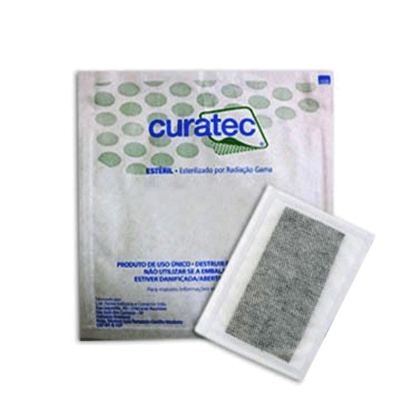 Carvão Ativado com Prata 10x20cm- Curatec