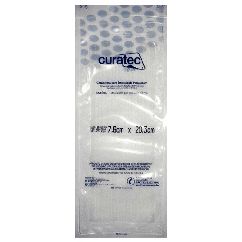 Compressa com Emulsão de Petrolatum 7.6X20.3  Curatec