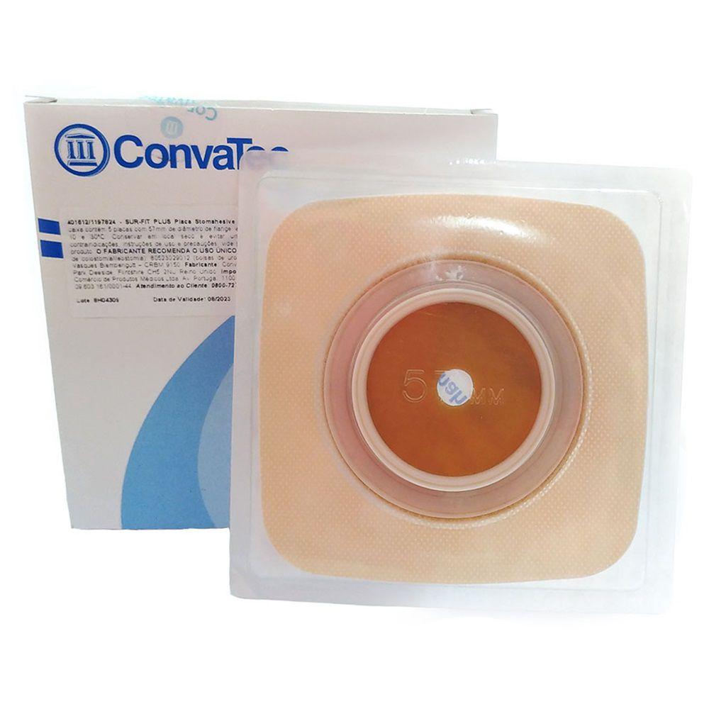 Placa de Colostomia Microporosa Sur-Fit Plus 57mm- c/05 und Convatec
