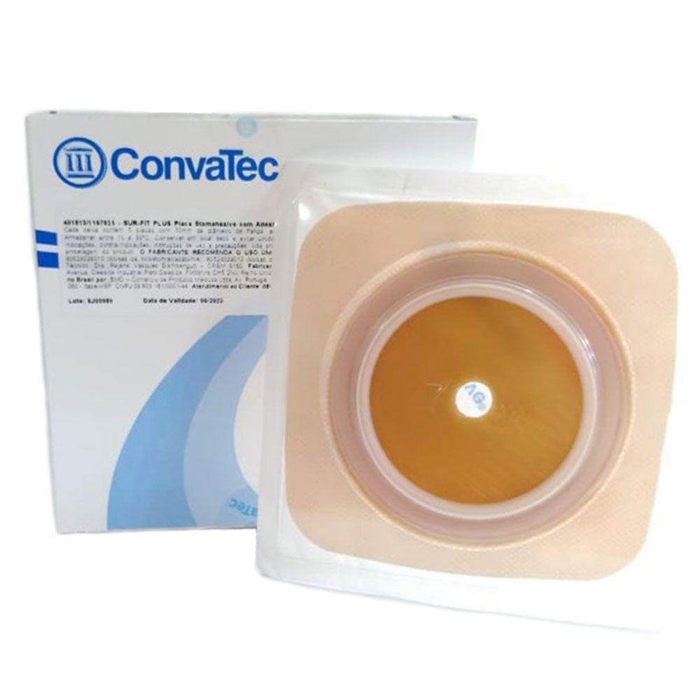 Placa de Colostomia Microporosa Sur-Fit Plus 70mm c/05 unid Convatec