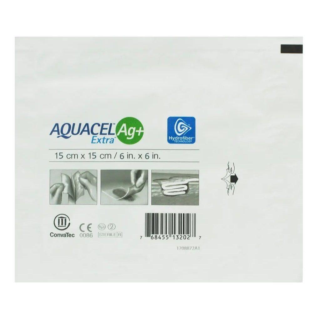 Curativo de Hidrofibra Aquacel Extra ag+ de 15 x 15 Convatec