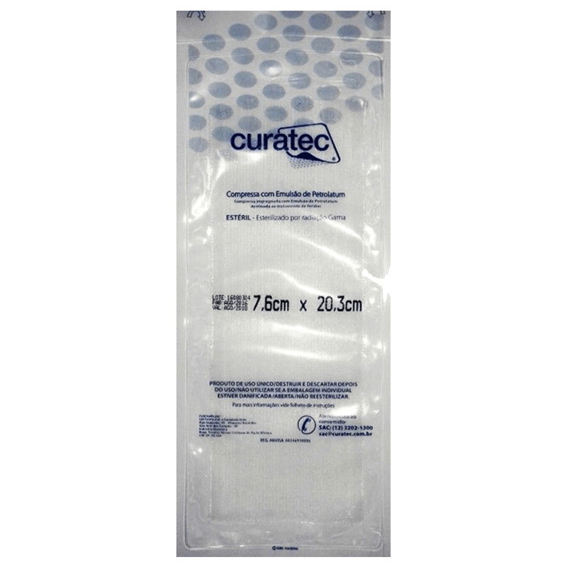 Emulsão de Petrolatum 7,6cmX20,3cm Curatec 5 unidades