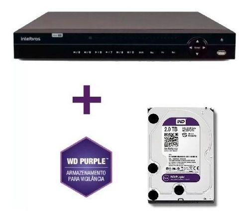 Dvr Multihd 32ch Mhdx 1132 Intelbras 5em C/hd Wd Purple 2tb