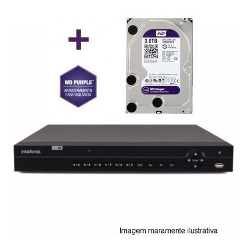 Dvr Multihd 32ch Mhdx 1132 Intelbras 5em C/hd Wd Purple 3tb
