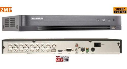 Dvr Hikvision 16 Canais Full Hd Ds-7216hqhi-k1 5 Em 1