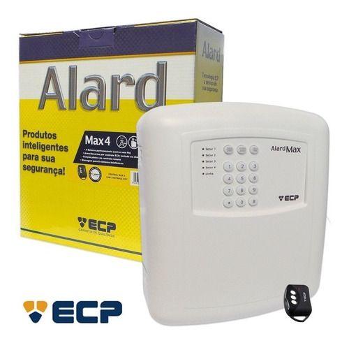 Central De Alarme Alard Max 4 Ecp + 1 Controle Key