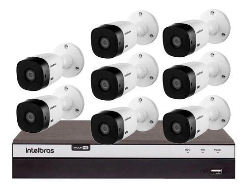 Kit 8 Cameras Vhl 1220b Full Hd 1080p Dvr 3108 8ch Intelbras