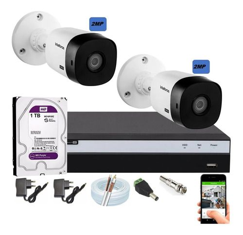 Kit Intelbras 2 Cam Full Hd 1220b 1080p Dvr 3104 C/hd Purple