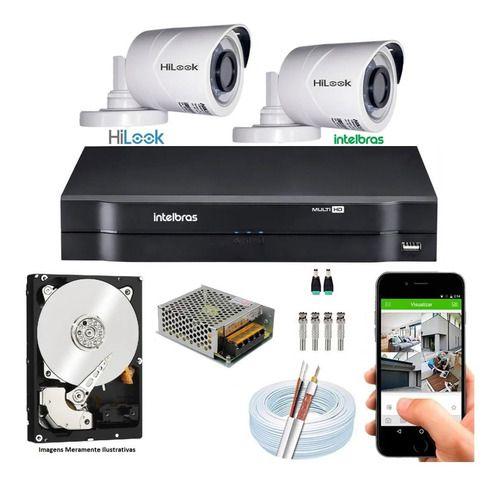 Kit Hikvision 5 Cam Hilook Fullhd 2.8mm+dvr 08c Turbohd 1tb