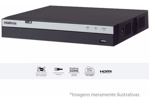 Kit 5 Cameras Vhl 1220b Full Hd 1080p Dvr 3108 8ch Intelbras