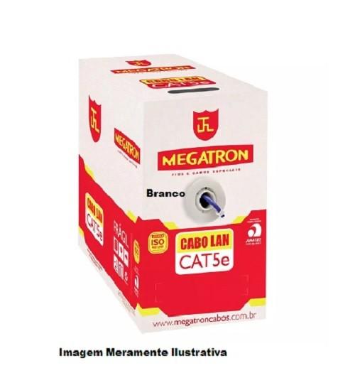 Cabo Lan Cat 5e 4 Pares Branco CX 305m Megatron