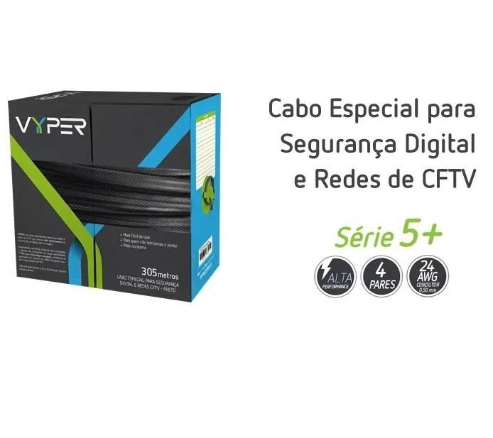 Cabo Utp Par Trançado Cat5 8 VIAS Azul 305M- Para CFTV