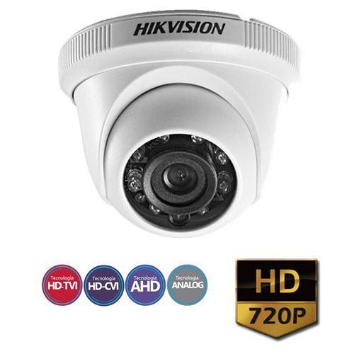 Câmera Infra Dome 4 em 1 720P 1.0 Megapíxel Lente 3.6mm 20M HIKVISION