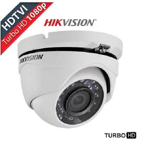 Câmera Infra Dome Turbo Full HDTVI 1080P 2.0 Megapíxel Lente 3,6mm 20M Metal HIKVISION