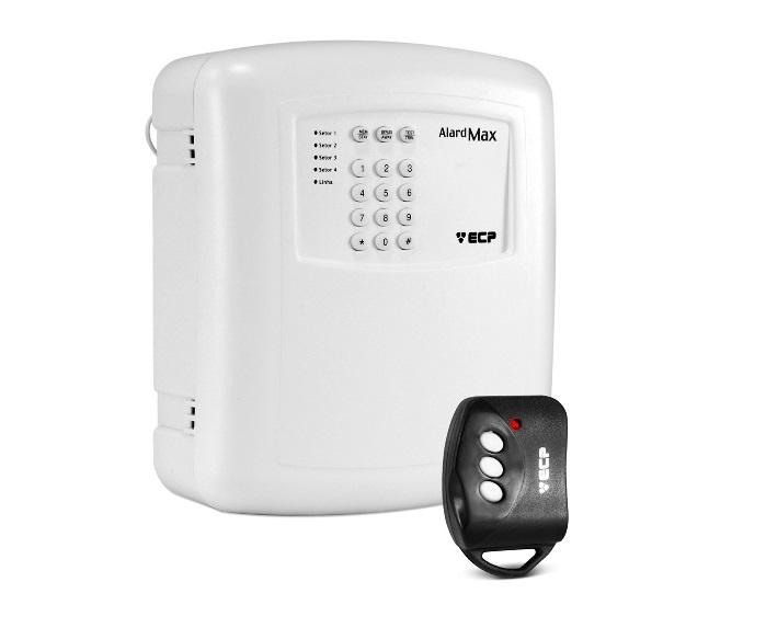 Central De Alarme Não Monitorada Alard MAX-4 COM DISCADORA + Controle Key ECP