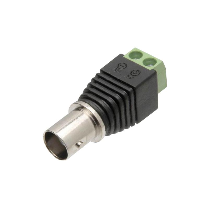Conector Plug BNC Fêmea com Borne Pacote com 100 Unidades