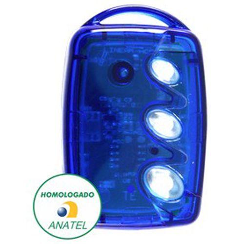 Controle Remoto 3 Teclas Linear Hcs Azul - Portão Linear