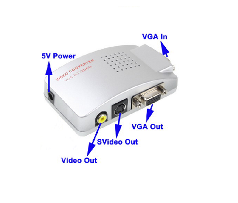 Conversor Vga P/ Rca + S-video Pc Notebook Tv Telão Projetor e DVR