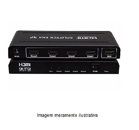 Distribuidor de Sinal de vídeo-Splitter HDMI 1x4 1080P