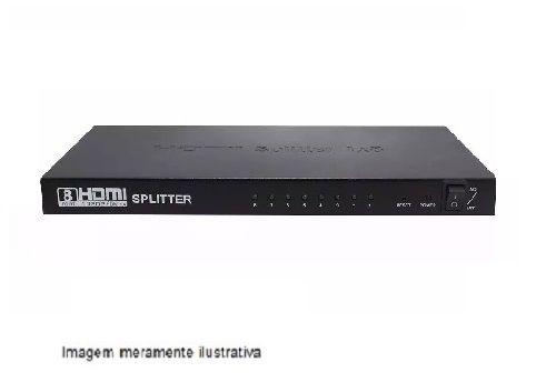 Distribuidor de Sinal de vídeo-Splitter HDMI 1x8 1080P