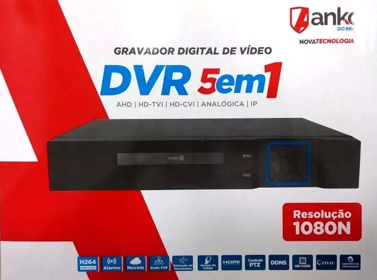 DVR 16 Canais 5 em 1 -  1080N AHD/HDCVI/HDTVI/Analógica/IP