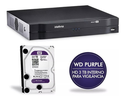 Dvr Intelbras 8 Canais Multihd Mhdx 1108 + Hd Purple 3tb