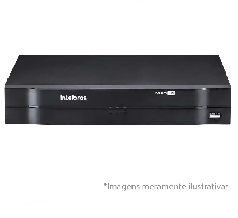 DVR Intelbras Multi-HD MHDX 1108 08 Canais H265 + HD WD Purple 2TB Homologado