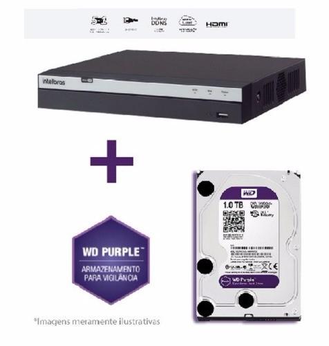 Dvr Mhdx 3116 1080p Fullhd C/hd Wd Purple 1 Tb Intelbras