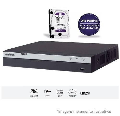 Dvr Mhdx 3116 1080p Fullhd C/hd Wd Purple 4 Tb Intelbras