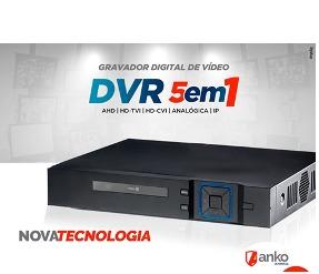 DVR stand alone Flex 5 em 1 XVR 16 Canais 1080N AHD/HDCVI/HDTVI/Analógica/IP Anko